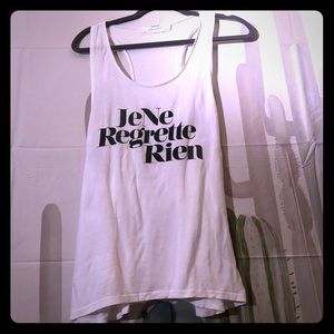 Free People racerback tank in French large